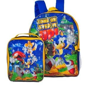 🆕 Sonic the Hedgehog Backpack lunch box set gift